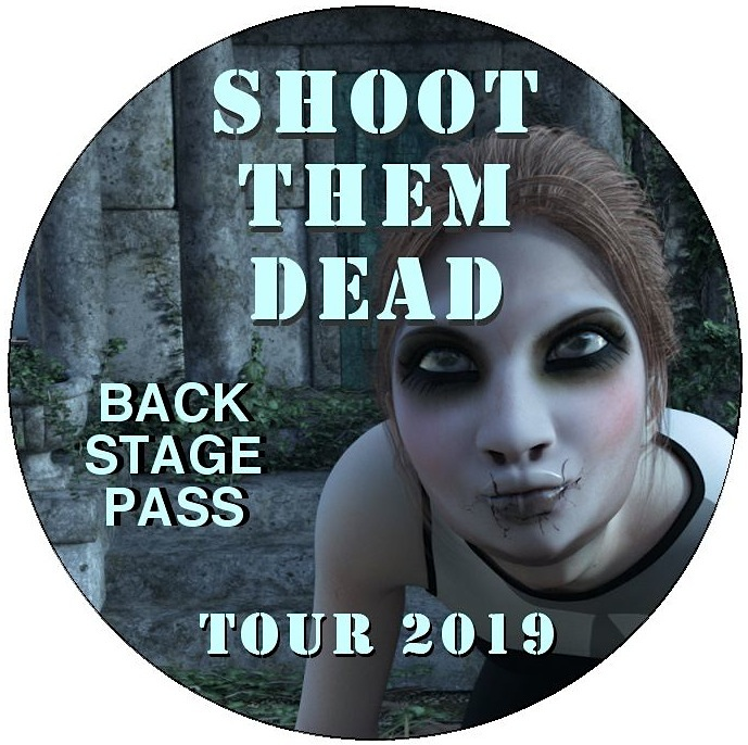 Band Tour Pinback Buttons and Stickers