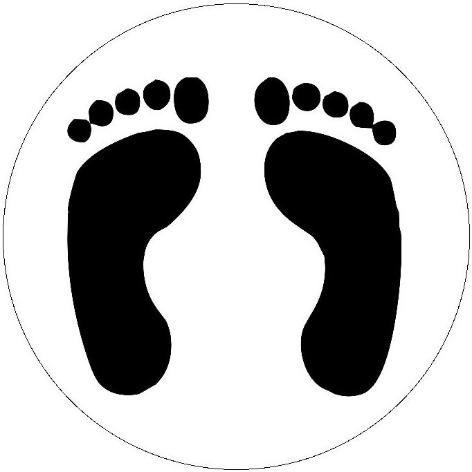 Feet Pinback Button and Sticker