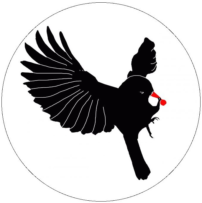 Bird Silhouette Pinback Buttons and Stickers