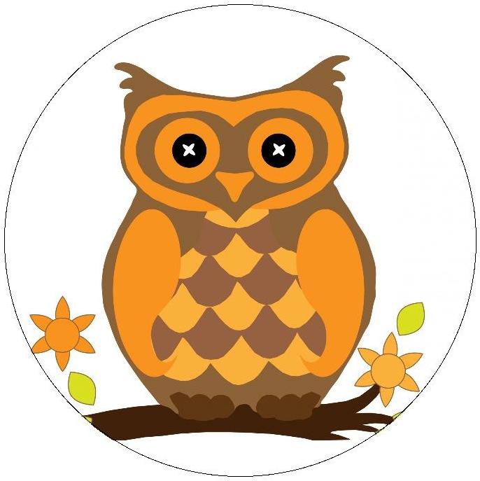 Owl Pinback Buttons and Stickers