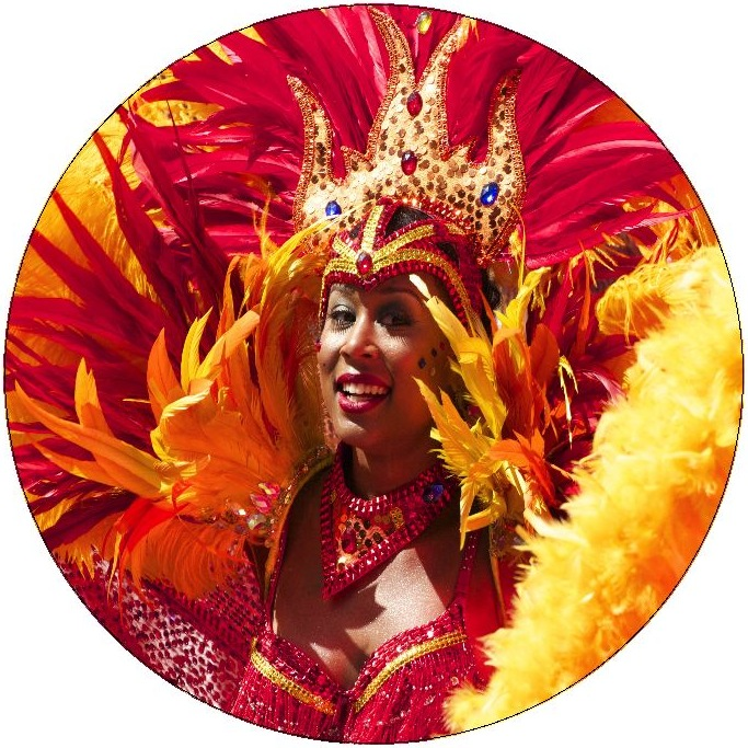 Brazilian Carnival Pinback Buttons and Stickers