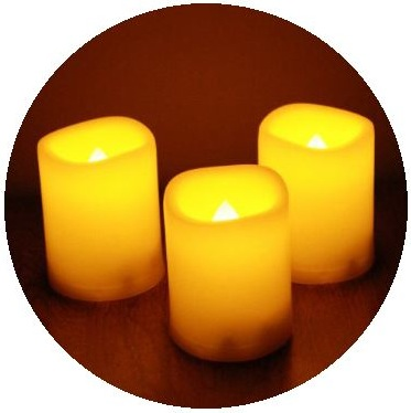 Candle Pinback Buttons and Stickers