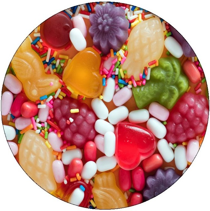 Candy Pinback Buttons and Stickers