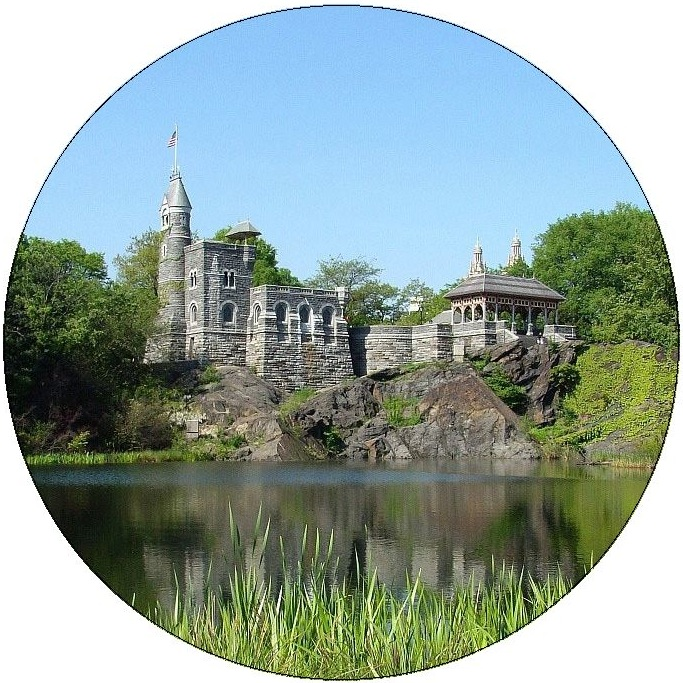 Belvedere Castle Pinback Button and Stickers