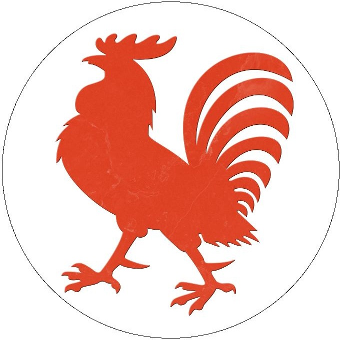 Rooster Pinback Buttons and Stickers