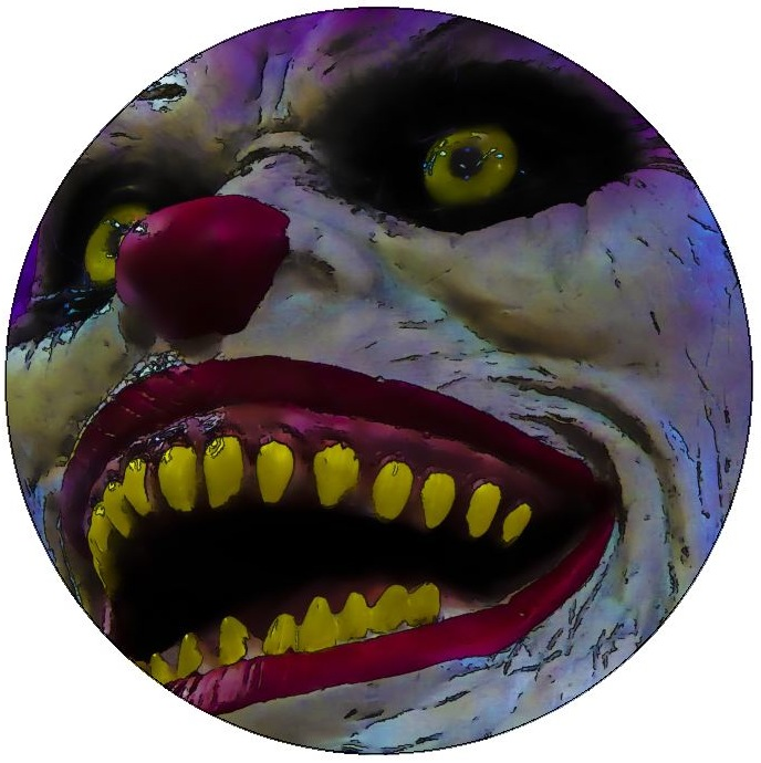 Clown Pinback Buttons and Stickers