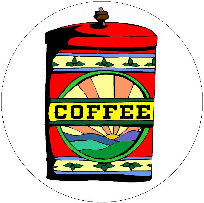 Coffee Pinback Button and Stickers