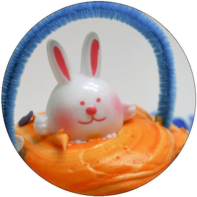 Easter Cupcake Pinback Buttons and Stickers