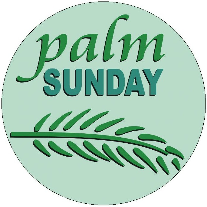 Palm Sunday Pinback Buttons and Stickers