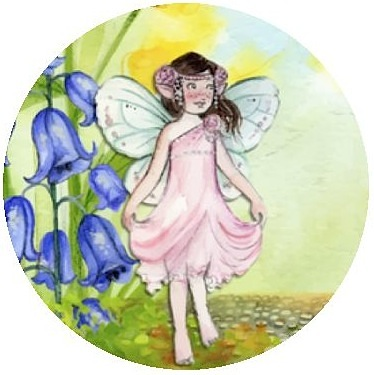 Children's Fairy Pinback Buttons and Stickers
