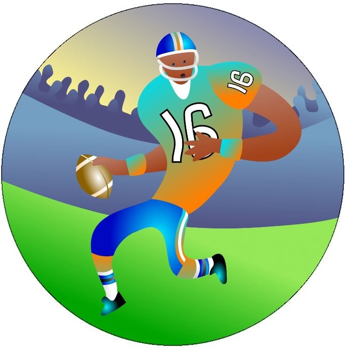 Football Pinback Buttons and Stickers