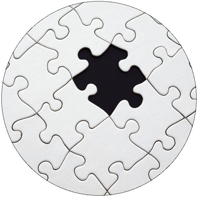 Jigsaw Puzzle Pinback Buttons and Stickers