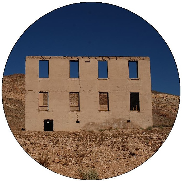 Rhyolite Ghost Town Pinback Buttons and Stickers
