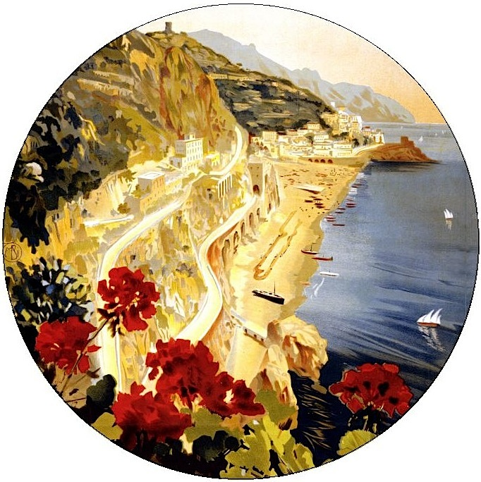 Amalfi Pinback Buttons and Stickers