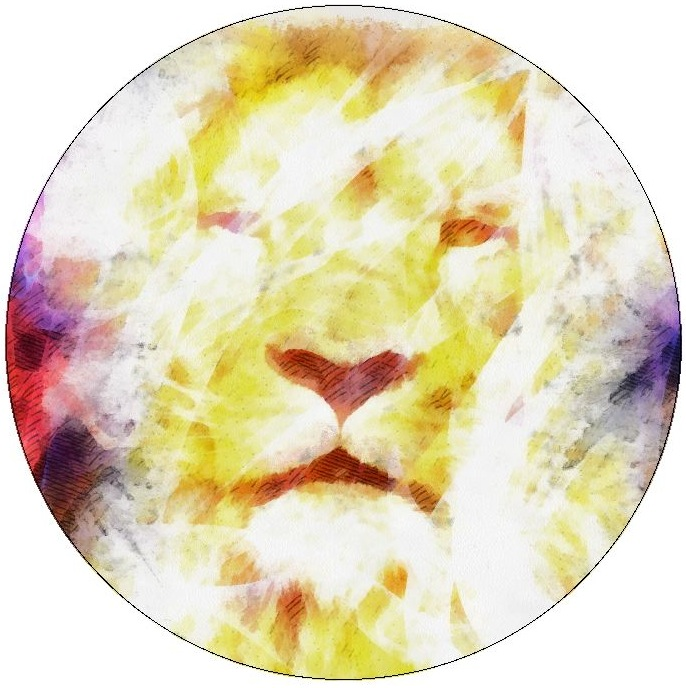Lion Pinback Buttons and Stickers
