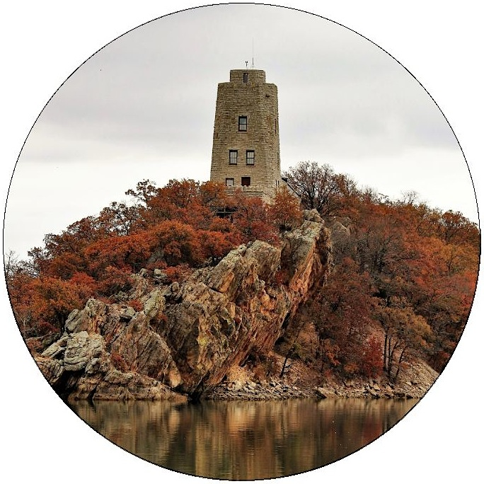Tucker Tower Pinback Buttons and Stickers