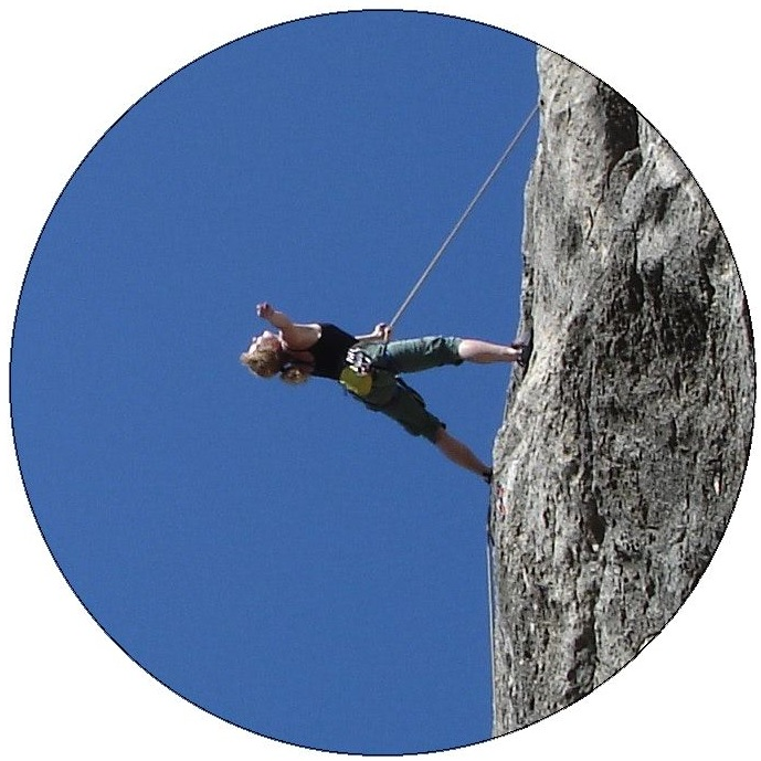 Rock Climbing Pinback Button and Stickers