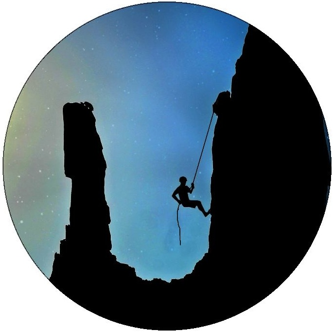 Rock Climbing Pinback Buttons and Stickers
