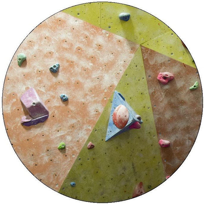 Rock Climbing Wall Pinback Button and Stickers