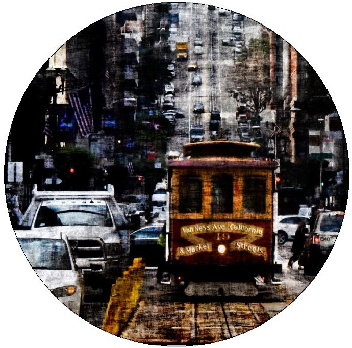 San Francisco Cable Car Pinback Buttons and Stickers