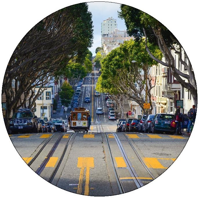 San Francisco Cable Car Pinback Button and Stickers