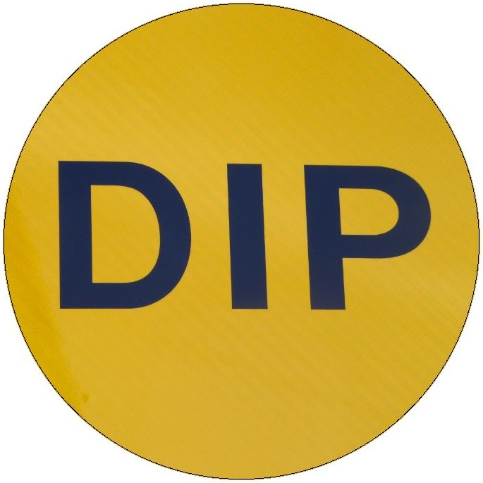 Dip Sign Pinback Button and Stickers