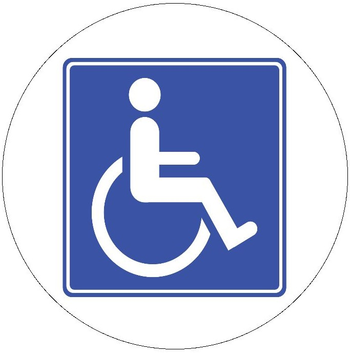 Handicap Sign Pinback Button and Stickers