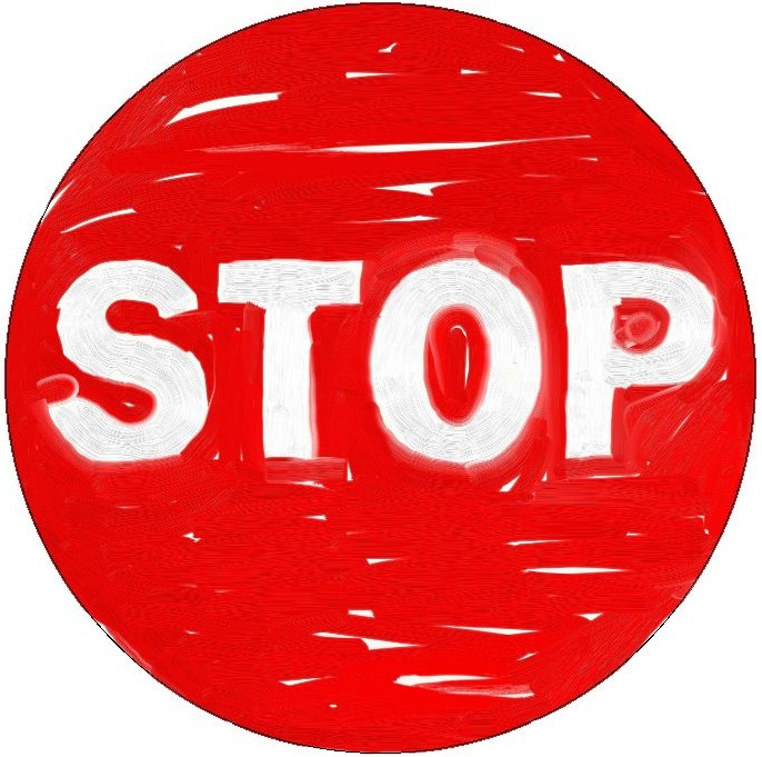 Stop Sign Pinback Button and Stickers