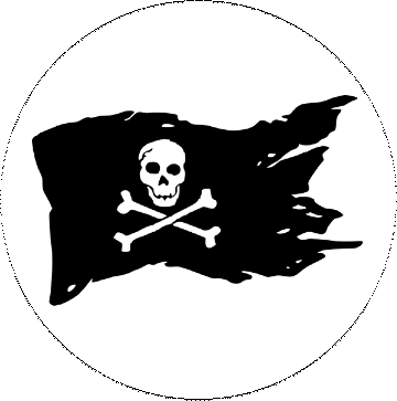 Pirate Flag Pinback Button and Stickers