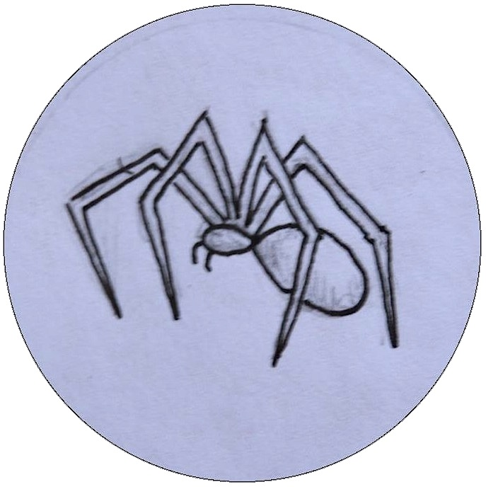 Hand drawn Spider Pinback Buttons