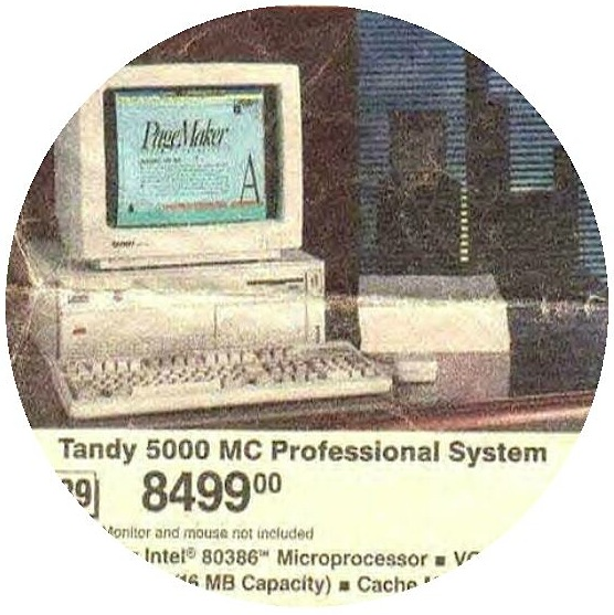 tandy Computer Pinback Buttons and Stickers