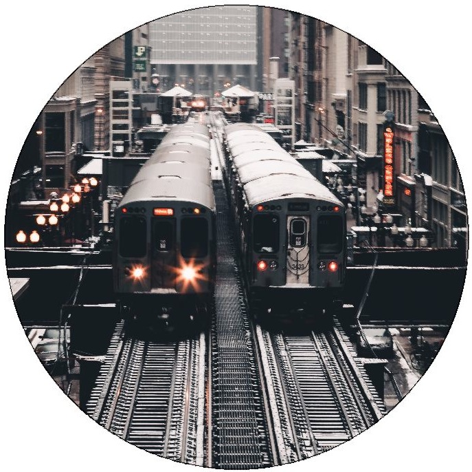 Train and Locomotive Pinback Buttons and Stickers