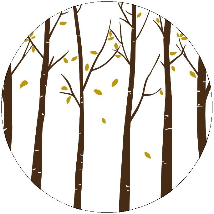 Autumn Trees Pinback Buttons and Stickers