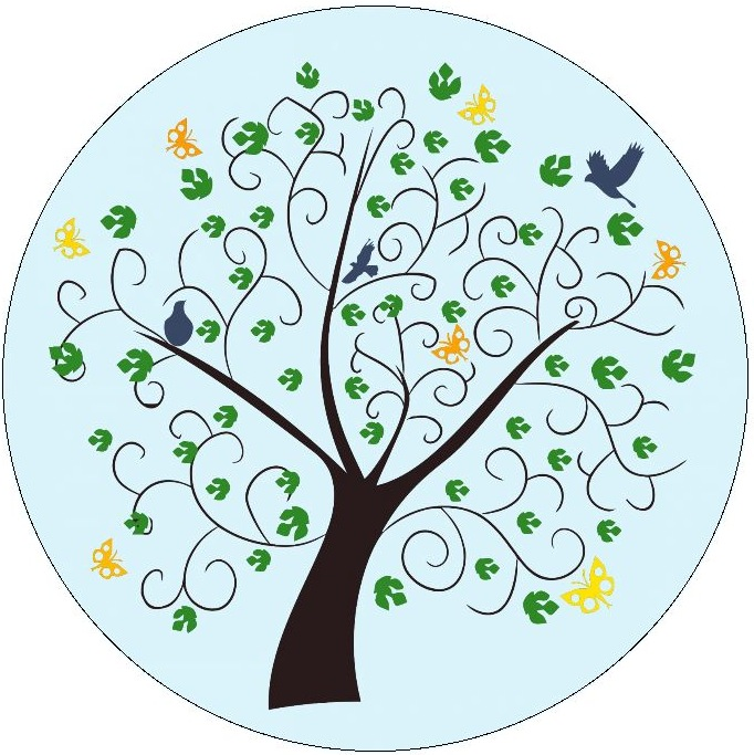 Trees Pinback Buttons and Stickers