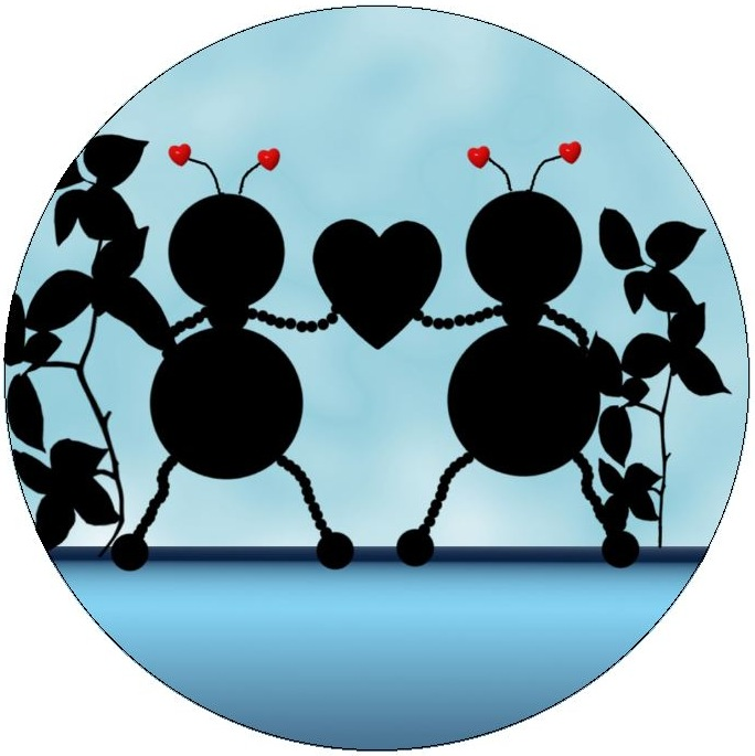 Ant Romance Pinback Buttons and Stickers