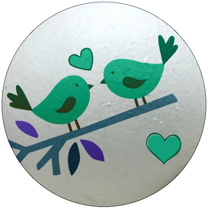 Bird Romance Pinback Buttons and Stickers