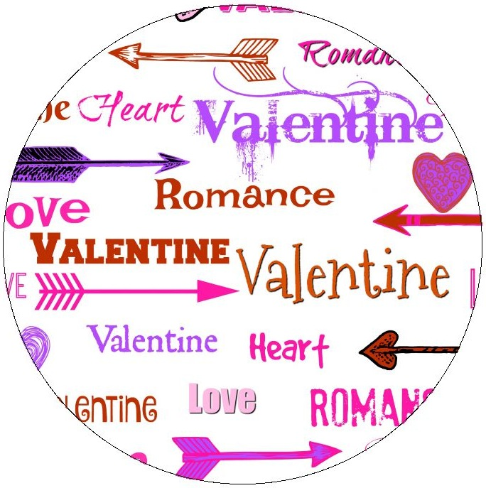 Words of Romance Pinback Buttons and Stickers