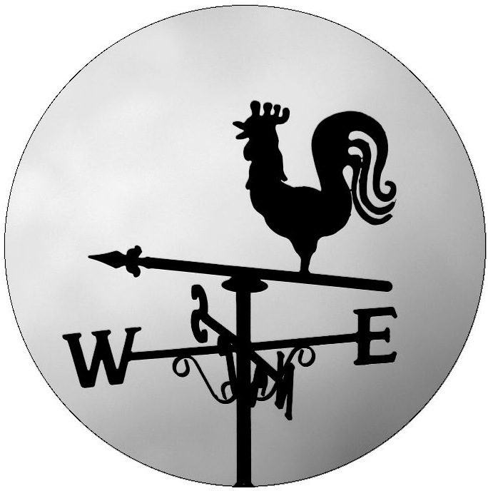 Weather Vane Pinback Buttons and Stickers