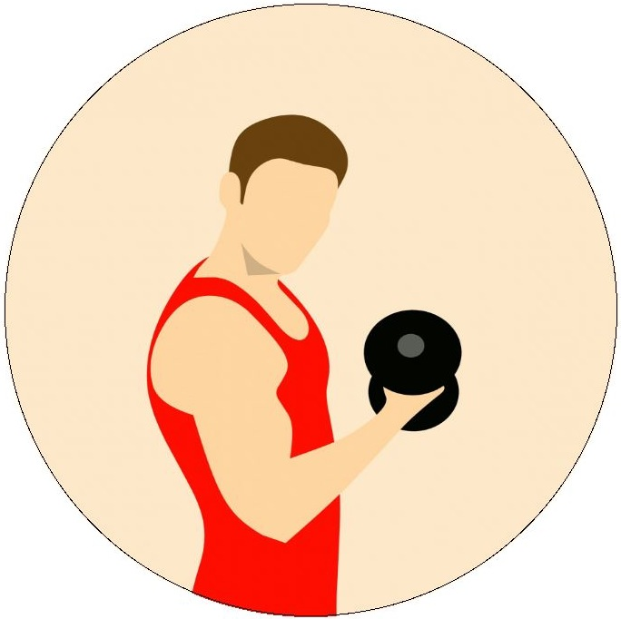 Weightlifting Pinback Buttons and Stickers