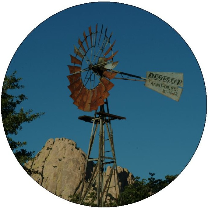 Windmill Photo Pinback Button and Stickers