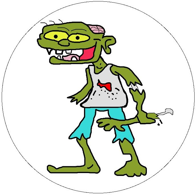 Zombie Pinback Buttons and Stickers